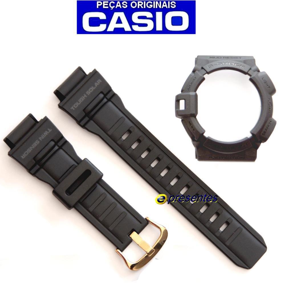 Bezel + Pulseira G-shock Mudman G-9300Gb - Peças Originais  - E-Presentes