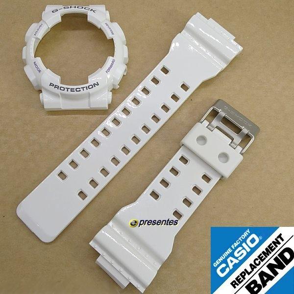 Bezel + Pulseira GA-100A-7A Casio G-shock Branco Brilhante Verniz  - E-Presentes