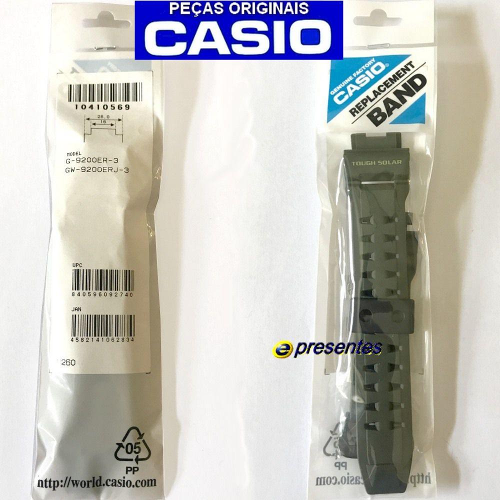 Bezel + Pulseira Verde G-9200ER-3 Gw-9200ERJ-3  G-shock Riseman *  - E-Presentes