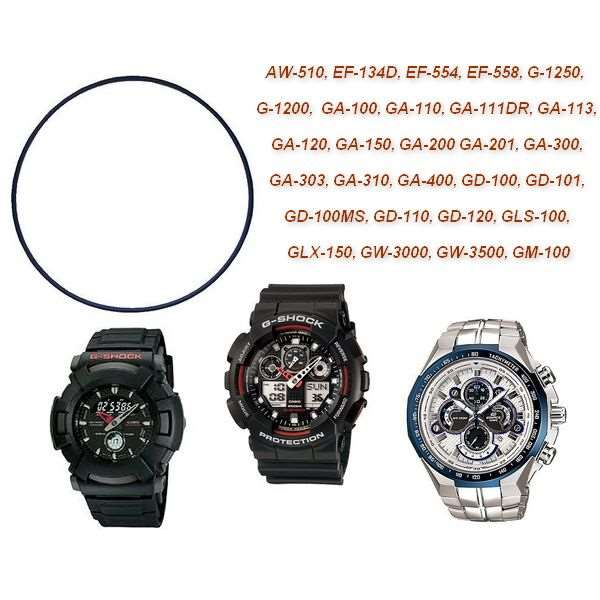 Bezel + Vedação Ga-110 Ga-100 Casio G-shock Preto Fosco  - E-Presentes