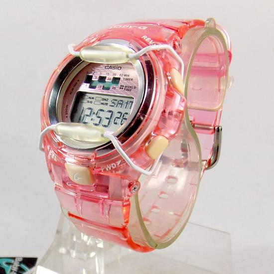 498afec1a01 BG-1001-4avdr Relógio Feminino Casio G-shock Baby-G Rosa - E-Presentes