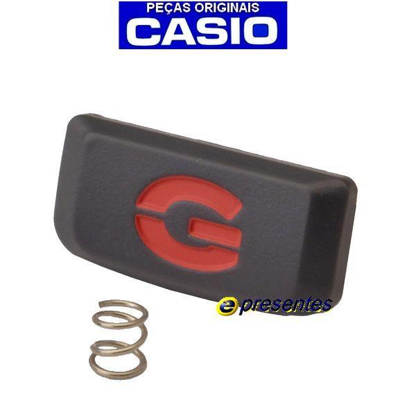 Botão Frontal Iluminação Casio G-shock Dw-9052-1v Cinza / Vermelho *  - E-Presentes