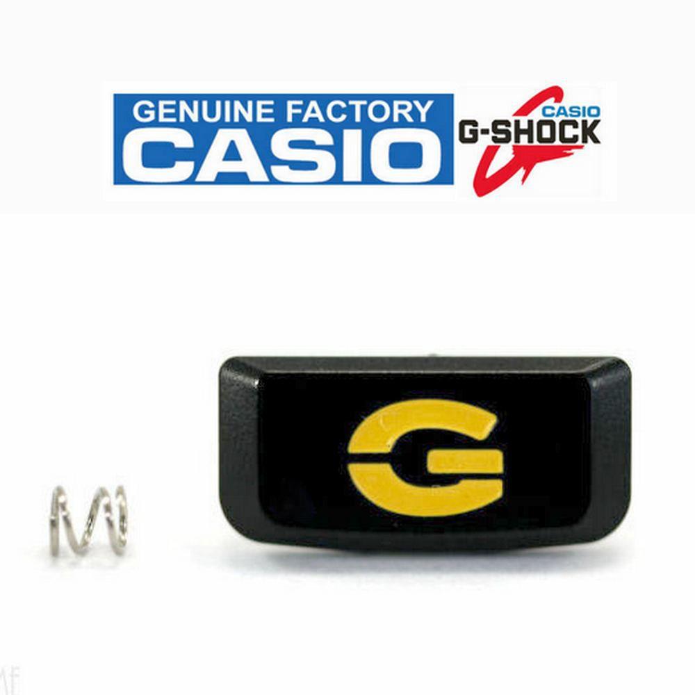 Botão Frontal Relógio Casio G-shock DW-9052-2V Preto/Amarelo  - E-Presentes