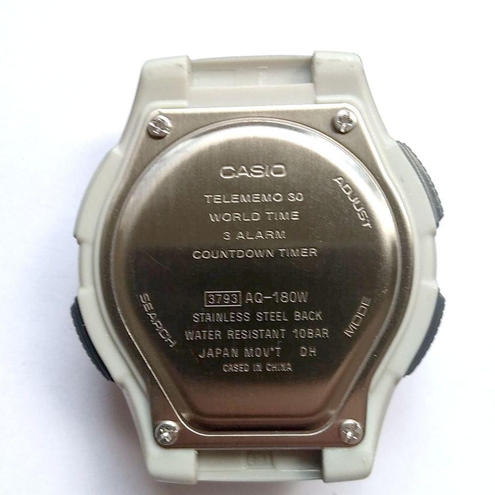 Caixa Case completo Relógio Casio AQ-180wd-1- Peça Original  - E-Presentes