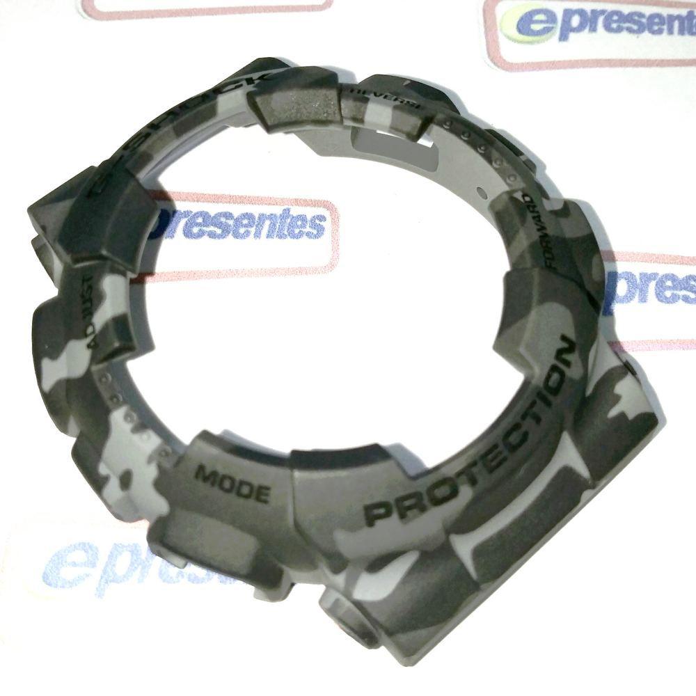 Capa Bezel Camuflado Cinza Casio G-Shock GA-100CM-8 / GD-120CM-8  - E-Presentes