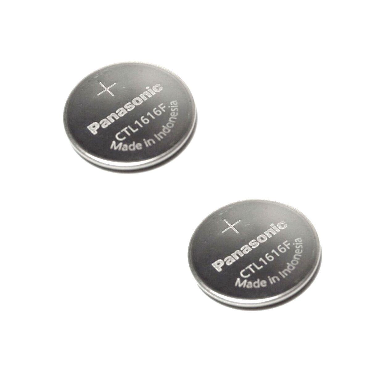 Capacitor Solar Recarregavel  CTL1616 Panasonic para Relogio Casio (2 unidades)  - E-Presentes