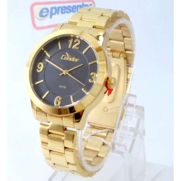 Co2035koo-4c  Relógio Feminino Condor Dourado 38mm largura  - E-Presentes