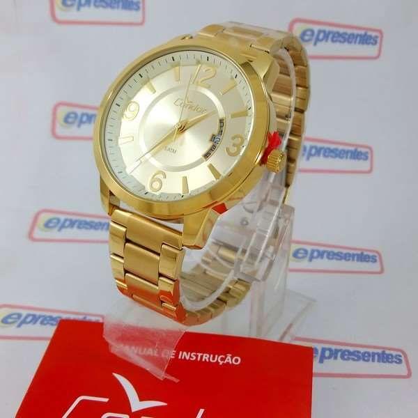 Co2115xw/k4d Relógio Feminino Condor Dourado 42mm largura 2 pulseiras  - E-Presentes