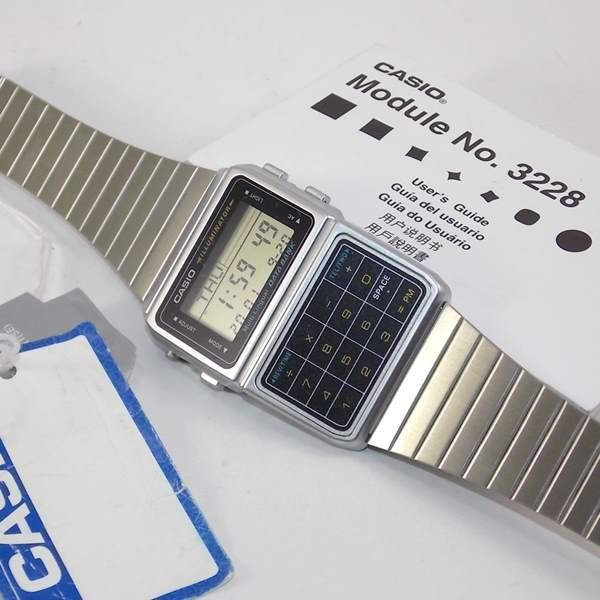DBC-611-1DF Relógio Casio Databank Calculadora Retrô Vintage  - E-Presentes