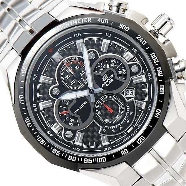 EF-554SP- 1AV Relógio Casio Edifice Aço inox wr100 Mostrador Fibra Carbono  - E-Presentes
