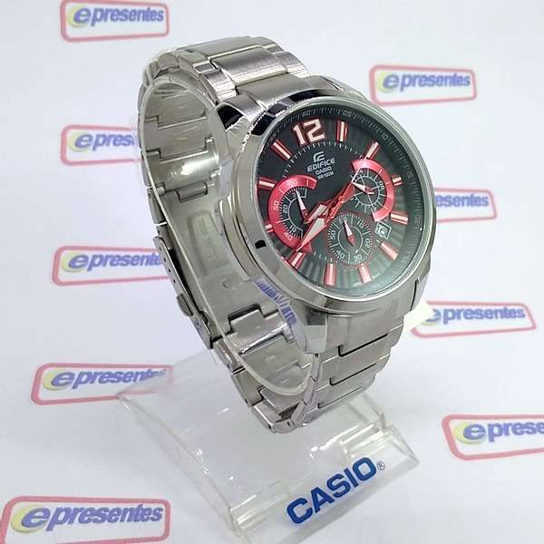 EFR-535D-1A4 Relogio Casio Edifice Cronografo Aço Vermelho/Preto  - Alexandre Venturini