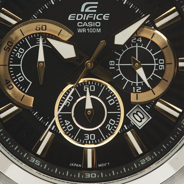 EFR-535D-1A9 Relogio Casio Cronografo Aço Preto/ Dourado  - E-Presentes