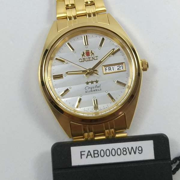 FAB00008W9 Relogio Automático Orient 21 Jewels Pulseira Aço Dourado  - E-Presentes