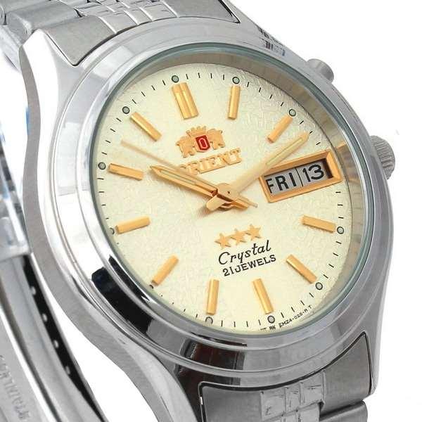 FEM0301XC9 Relógio Masculino Orient Automatico Prateado 36mm Autentico  - E-Presentes