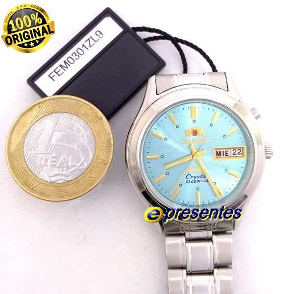 FEM0301ZL9 Relógio Masculino Orient Automatico Prateado 36mm Autentico  - Alexandre Venturini