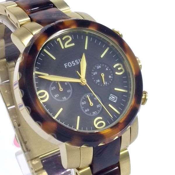 FJR1382Z Relógio Fossil Dourado Cronografo Feminino wr50 Original  - E-Presentes