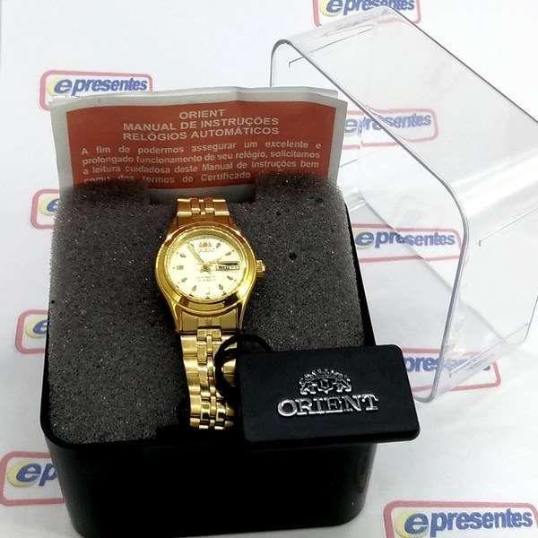 Fnq0400bc9 Relógio Feminino Orient Mini Automatico Dourado  - E-Presentes