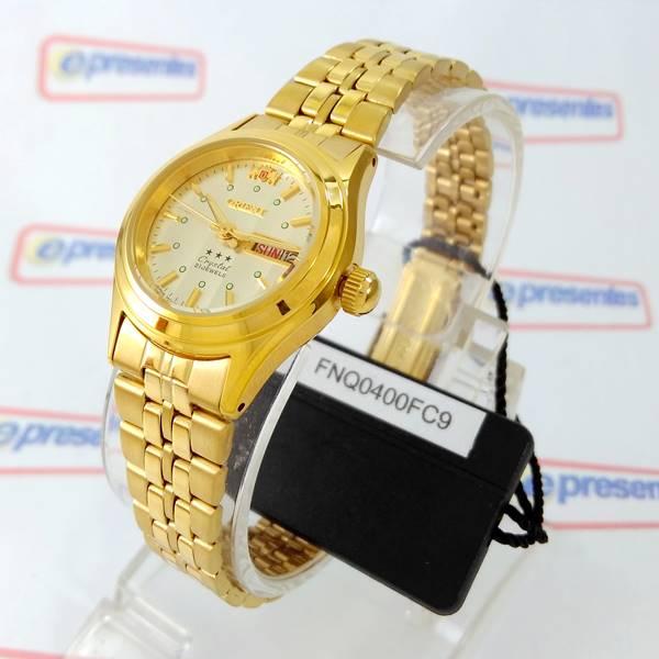 f2b087ba25f FNQ0400FC9 Relógio Feminino Orient Mini Automatico Dourado 25MM - E- Presentes