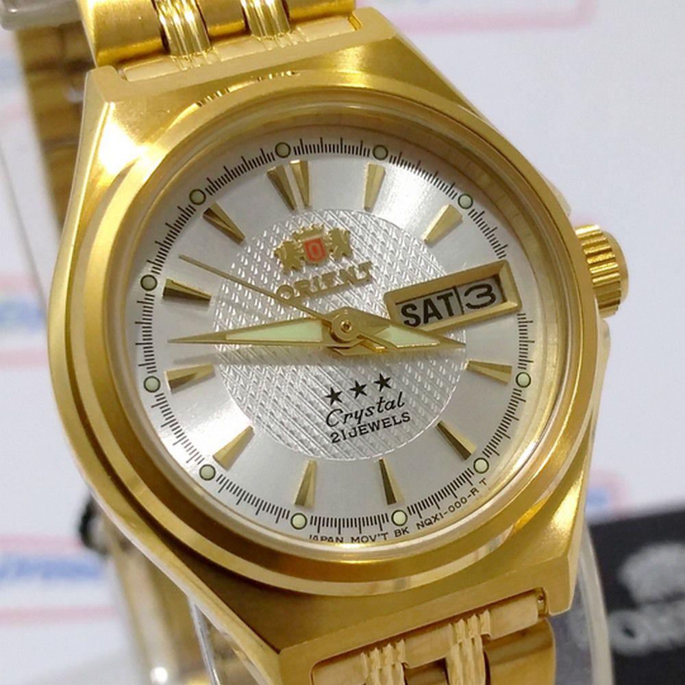 FNQ1S001W9 Relógio Feminino Orient Mini Automatico Dourado 25MM  - E-Presentes