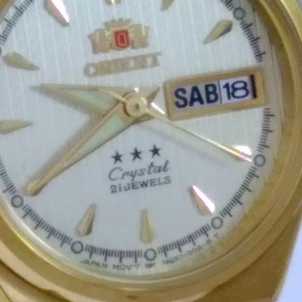 FNQ1S002C9 Relógio Feminino Orient Mini Automatico Dourado 24MM  - E-Presentes