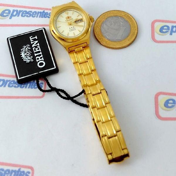 FNQ1S002C9 Relógio Feminino Orient Mini Automatico Dourado 24MM  - Alexandre Venturini