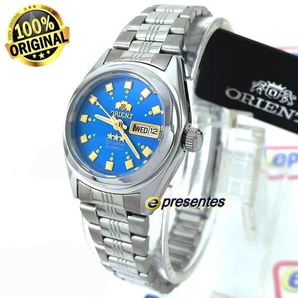 5fa5697ba561e Fnq1x003l9 Relógio Orient Automatico Feminino Mini Azul 25MM - E-Presentes