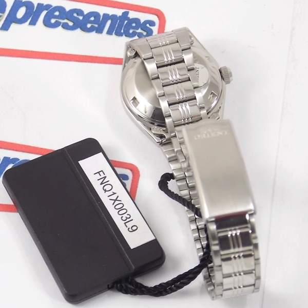 Fnq1x003l9 Relógio Orient Automatico Feminino Mini Azul 25MM  - E-Presentes