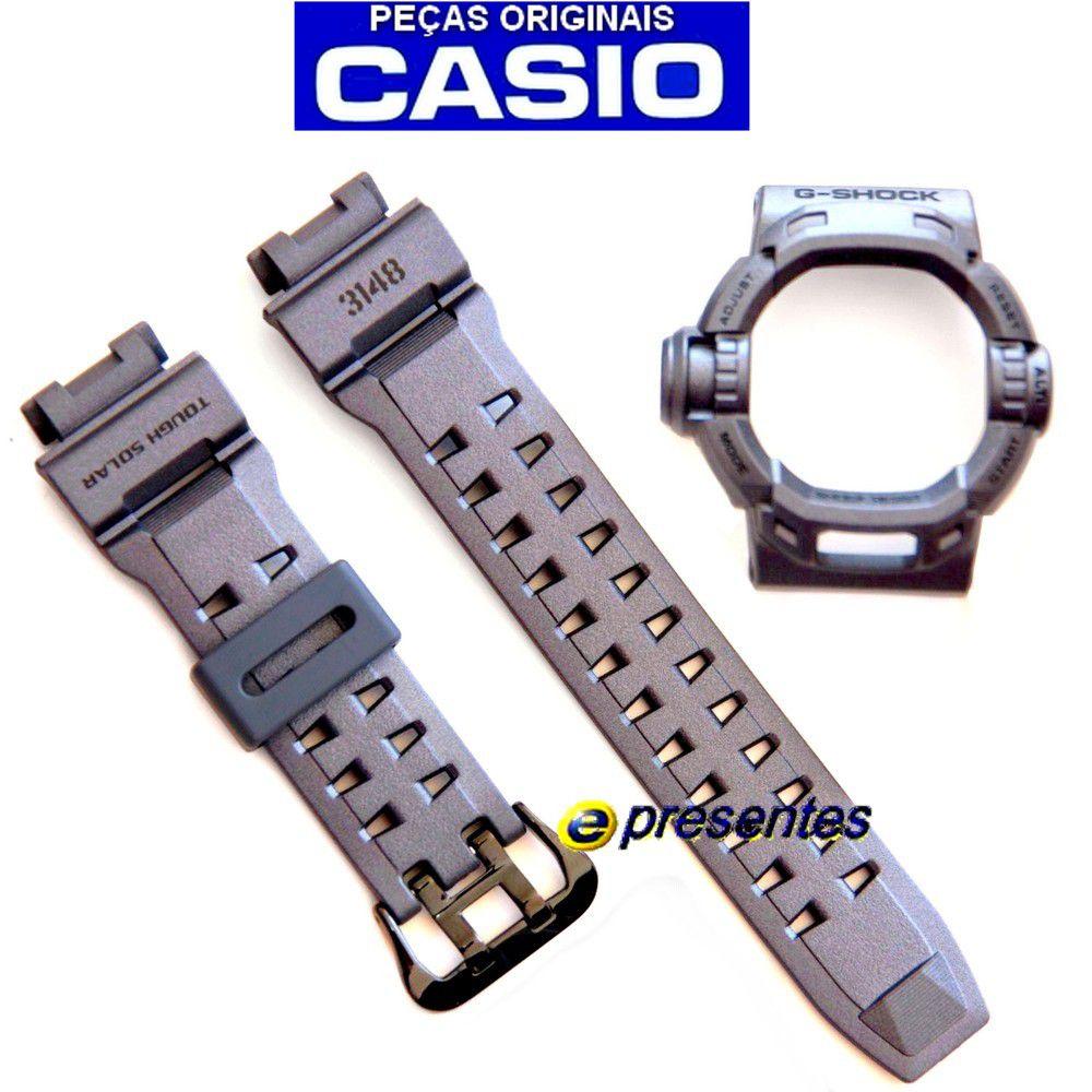 cc6f11b2530 G-9200ms-8 Bezel + Pulseira G-shock Riseman - 100%original - E-Presentes