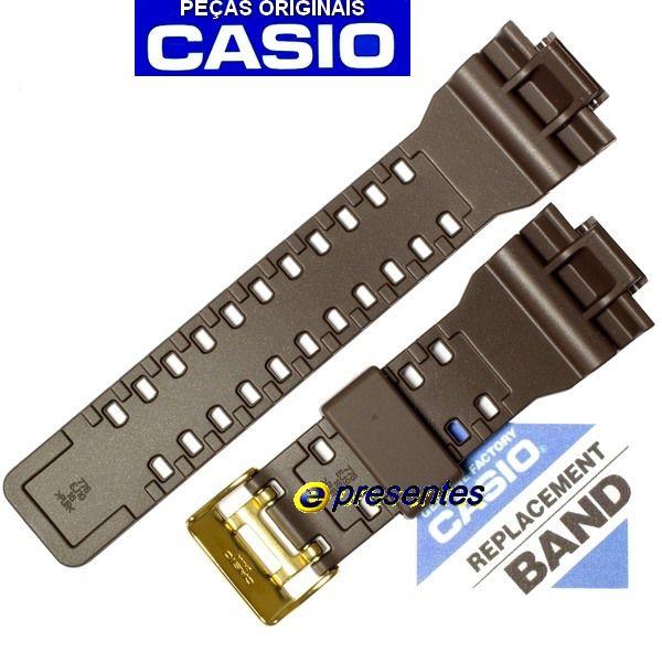 GA-110br-5a Pulseira Casio G-shock Marrom 100% original   - E-Presentes
