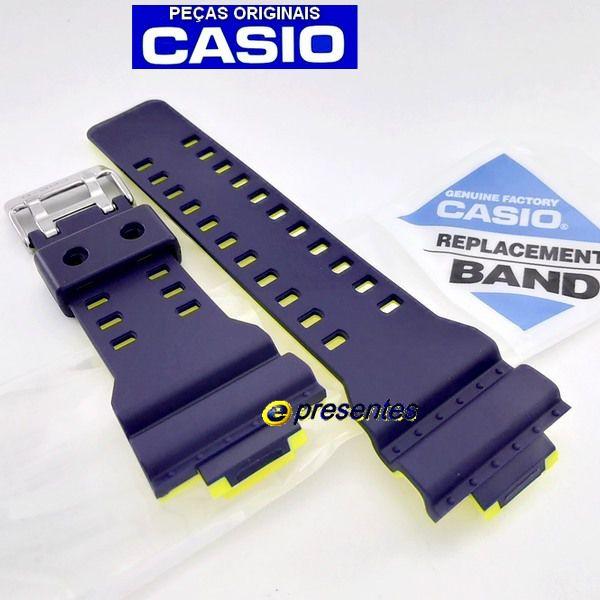 GA-110LN-2A Pulseira Casio G-Shock AZUL / Amarelo *  - E-Presentes