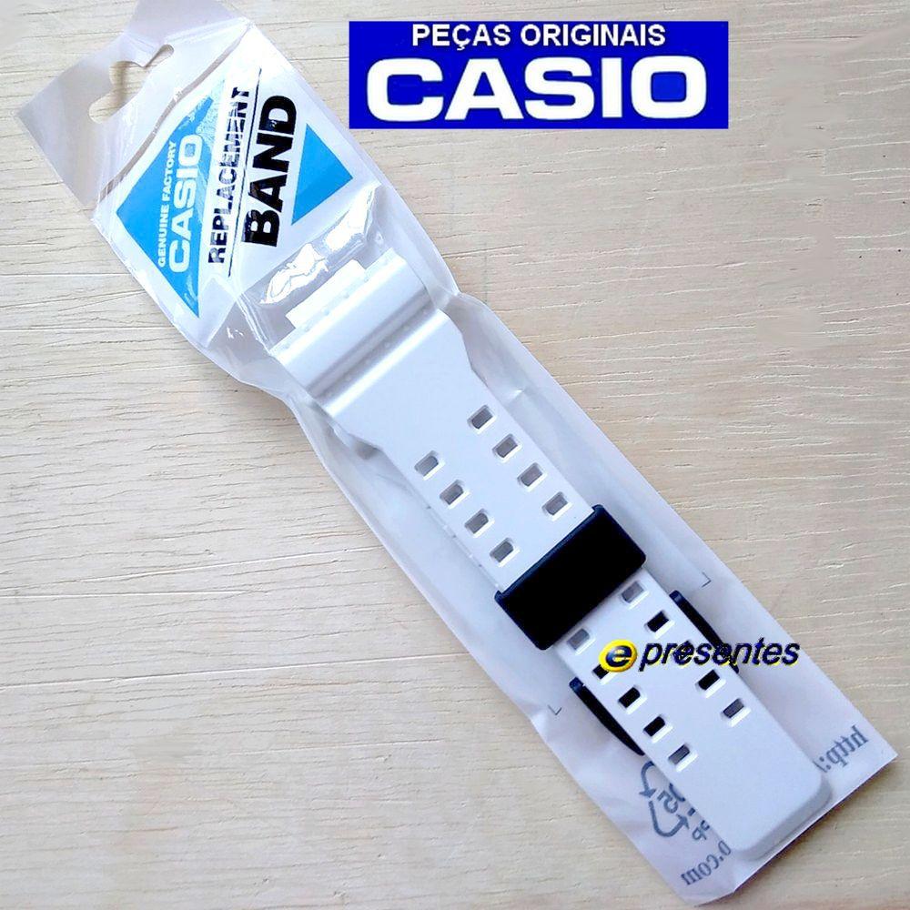 GA-700-7a Pulseira Casio G-shock Resina Branco - 100% original   - E-Presentes