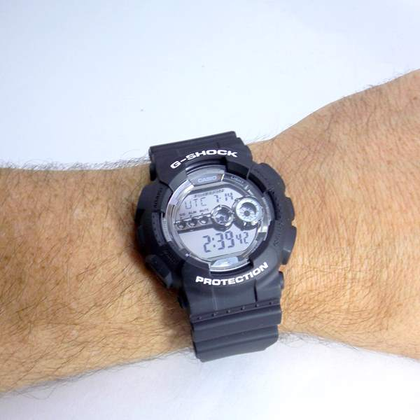 GD-100BW-1DR Relógio Casio Gshock Digital Black And Gray  - E-Presentes