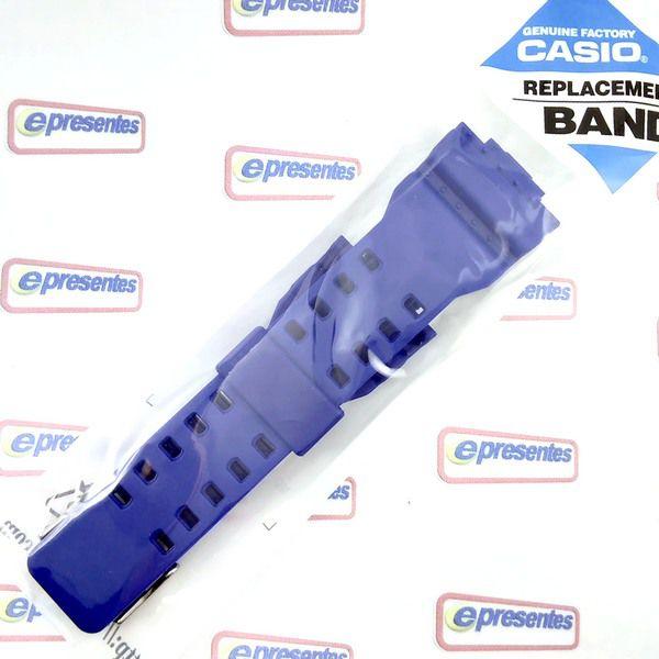 GD-120TS-2 Pulseira + Bezel Azul Casio G-Shock - 100% Original   - E-Presentes