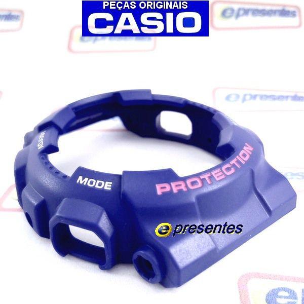 GD-120TS-2dr Bezel Azul letras Rosa/Branco Casio G-Shock - 100% Original   - E-Presentes