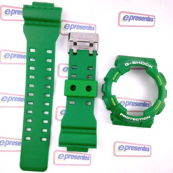 GD-120TS-3 Pulseira + Bezel Verde Folha Fosco - 100% Original  - E-Presentes