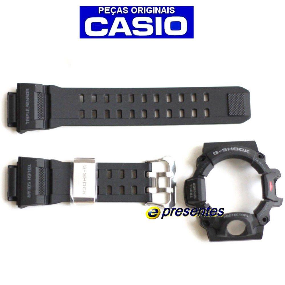 GW-9400-1 Pulseira e Bezel Preto Fosco Casio G-Shock Rangeman  - E-Presentes