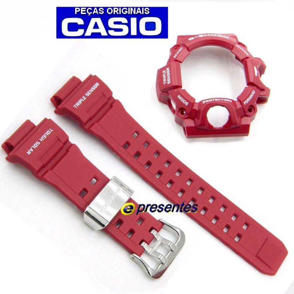 GW-9400RD-4 Pulseira e Bezel Vermelhos Casio G-Shock Rangeman   - E-Presentes