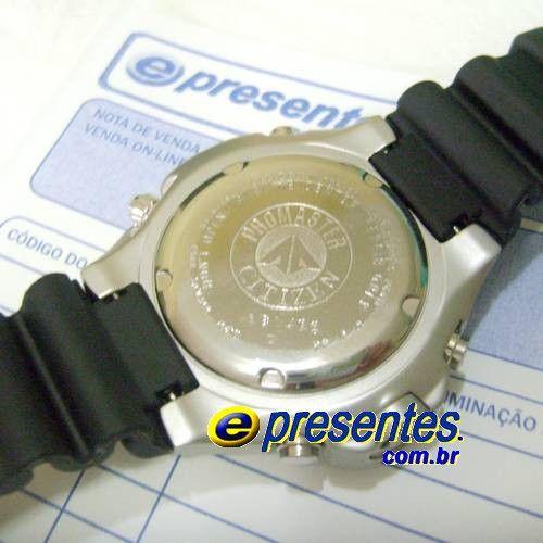 JP1060-01X Relógio Citizen Aqualand Original Profundímetro  - E-Presentes