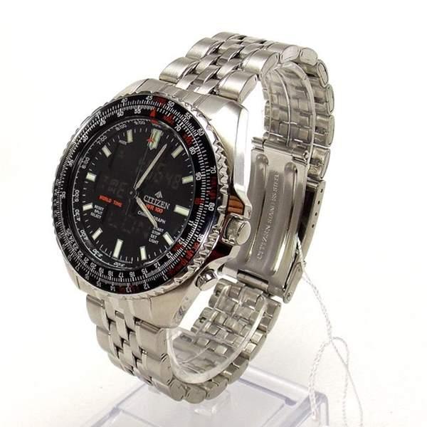 JQ8000-50E Relógio Masculino Citizen Wingman Cronógrafo Ana-Digi  - E-Presentes