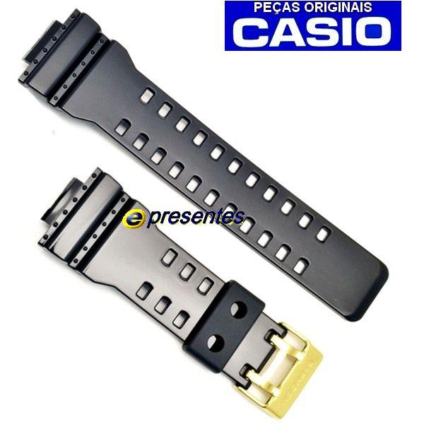 Kit Bezel +  Pulseira Brilhante Fivela Dourada GA-110GB-1A / GD-100GB Casio G-shock  - Alexandre Venturini