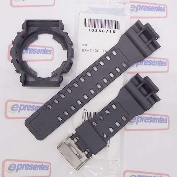 Kit Pulseira + Bezel Capa Casio G-shock Ga-110c-1a Cinza   - E-Presentes