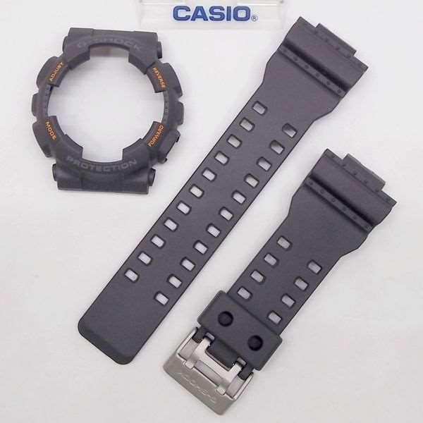 Kit Pulseira + Bezel Capa Casio G-shock Ga-110TS-1a4 Cinza   - E-Presentes