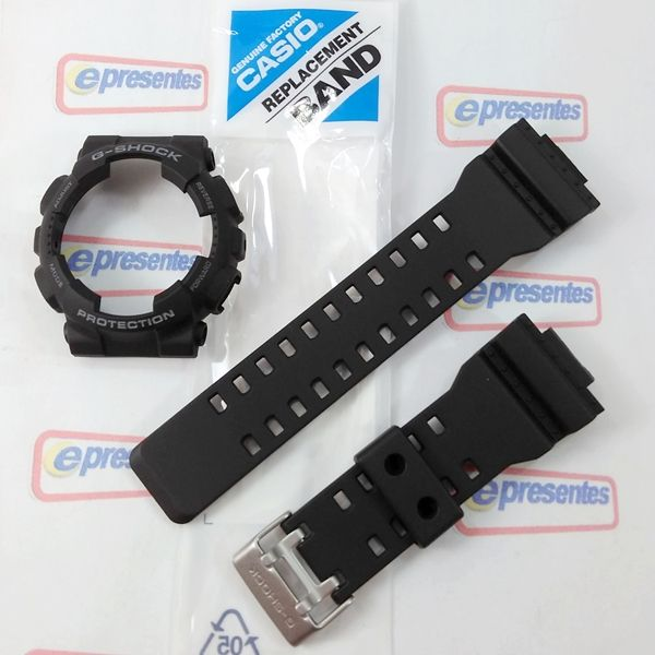 "Kit Pulseira + bezel Capa Casio G-shock Ga-100-1a2 ""Original""  - E-Presentes"