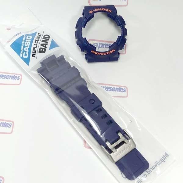 """Kit Pulseira + bezel Casio G-Shock AZUL GA-110FC-2  """"Original""""  - E-Presentes"""