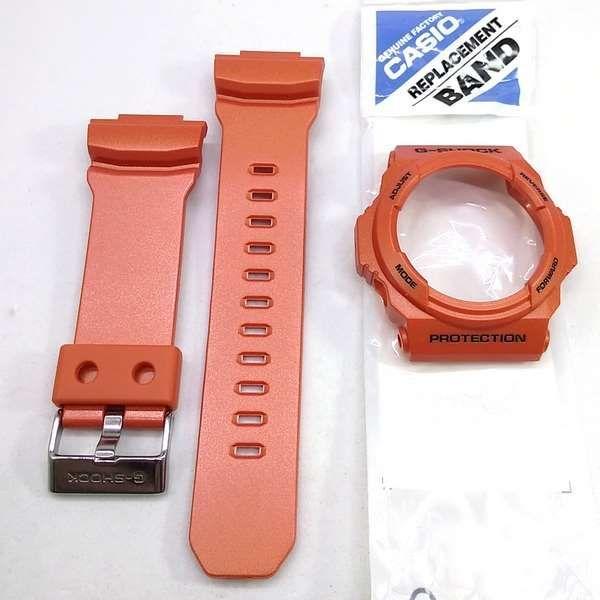 Kit Pulseira + Bezel GA-150A-4ADR Casio G-shock Cor Laranja  - E-Presentes