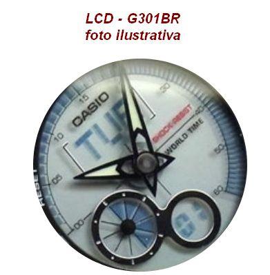 LCD Relogio Casio G-shock G-301br  Peça Original Nova  - E-Presentes