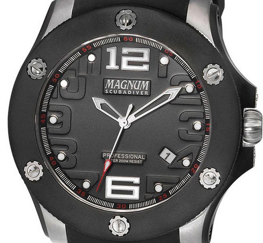 MA30865T Relógio Magnum Scubadiver Mergulho WR200 47MM SAFIRA  - E-Presentes
