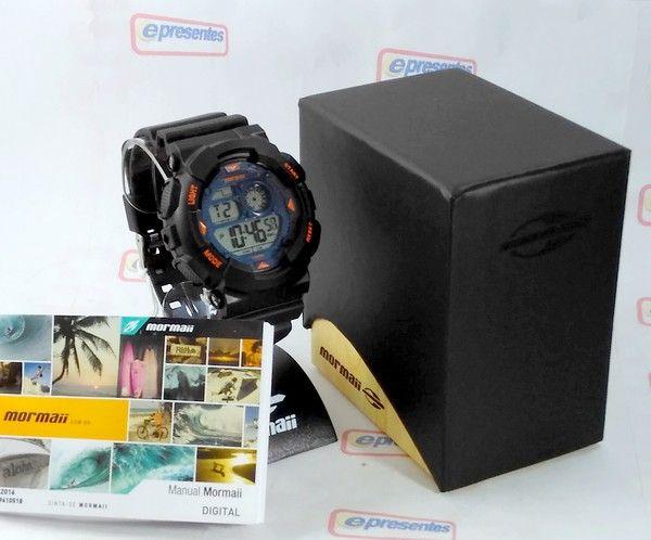 MO3415A/8A Relogio Mormaii Digital estilo GShock WR100  - E-Presentes