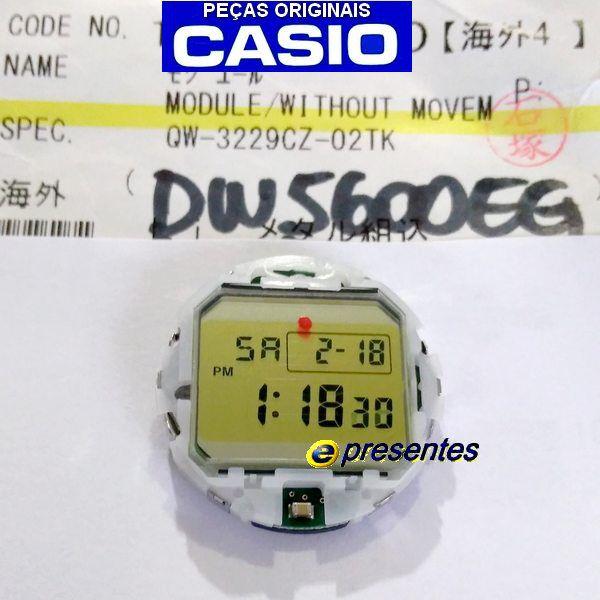 Módulo DW-5600EG LCD Circuito Interno Completo Casio G-shock  - E-Presentes