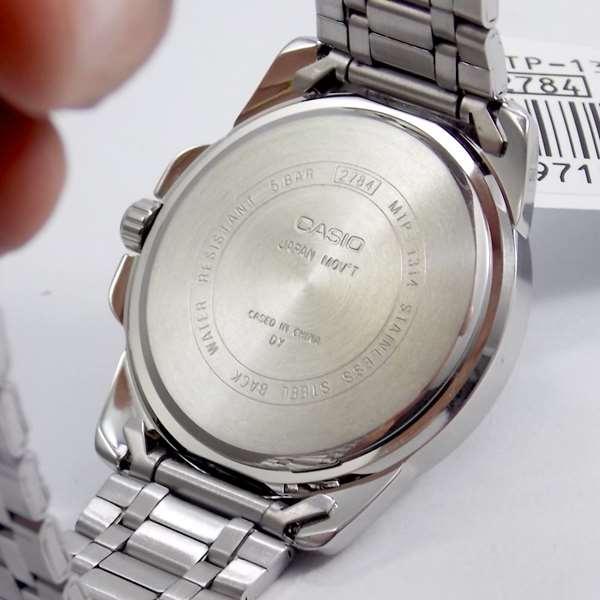 MTP-1314D-7AV Relógio Masculino Casio Analógico Aço inox WR50m  - E-Presentes